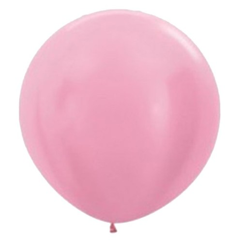90cm - 36'' Ροζ περλέ μεγάλο μπαλόνι