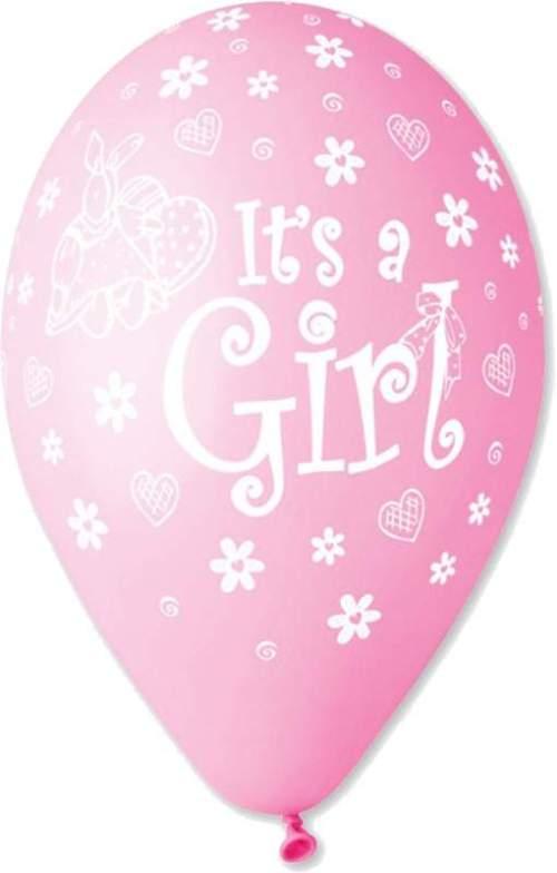 Μπαλόνι τυπωμένο Its a girl κουνελάκι