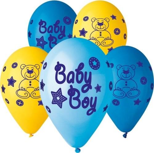 Μπαλόνι τυπωμένο Baby boy αρκουδάκι