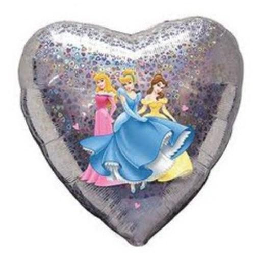 Μπαλόνι Πριγκίπισσες Disney καρδιά που ιριδίζει