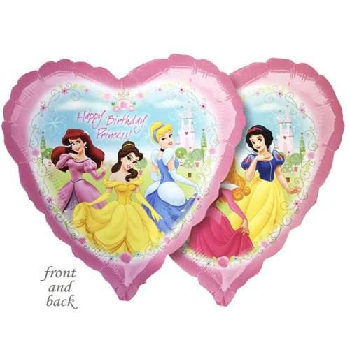 Μπαλόνι Καρδιά Happy Birthday Princess 2 πλευρές