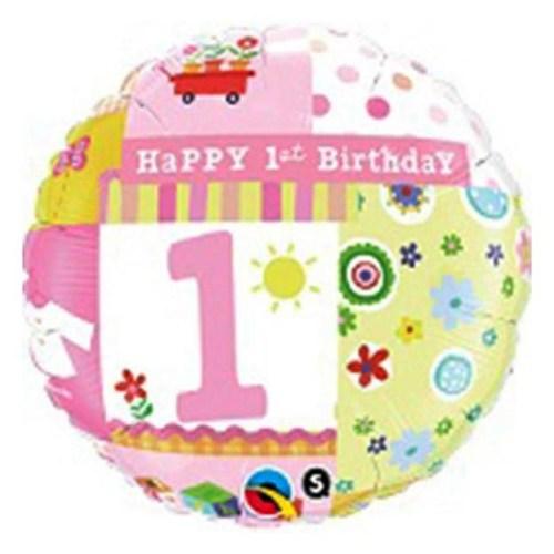 Μπαλόνι για γενέθλια Πεταλούδες 'First Birthday Girl'