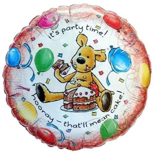Μπαλόνι για γενέθλια Αρκουδάκι 'Its Party Time'