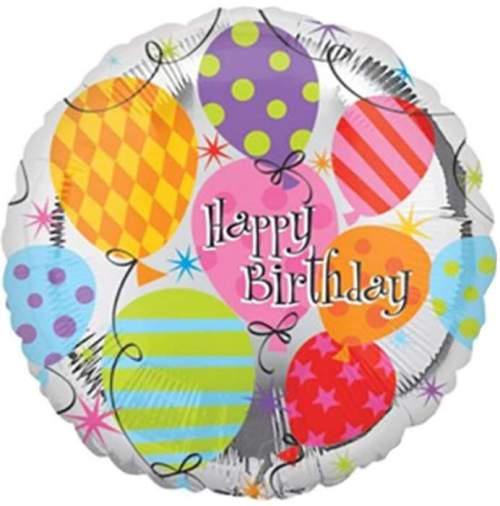 Μπαλόνι για γενέθλια 'Happy Birthday' με μπαλονάκια