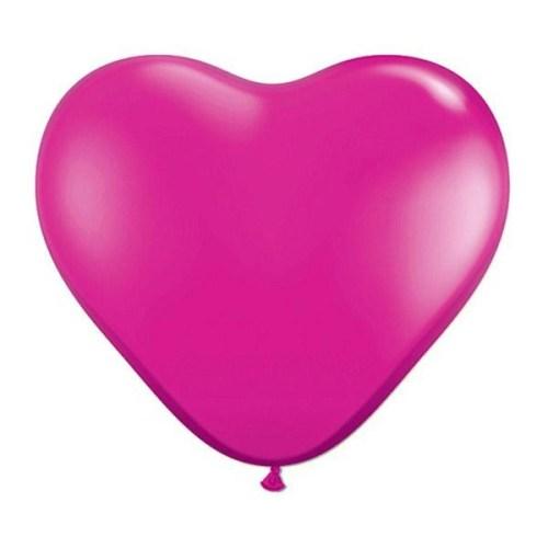 Μπαλόνι μικρό ματζέντα καρδιά