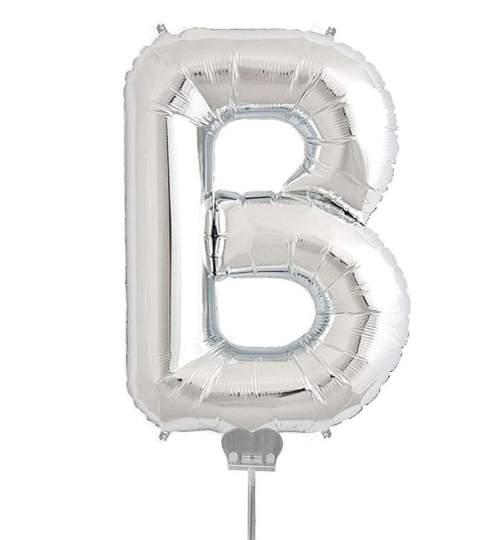 Μπαλονι 40 εκ Ασημί Γράμμα Β