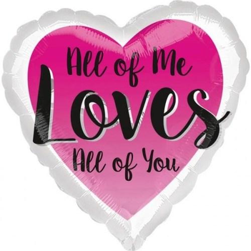 Μπαλόνι αγάπης Καρδιά 'All of Me Loves All of You'