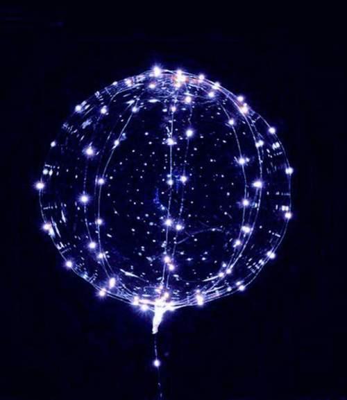 Διάφανο μπαλόνι φωτιζόμενο με μπλε LED