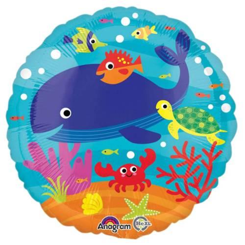 Μπαλόνι στρογγυλό με ζωάκια της θάλασσας