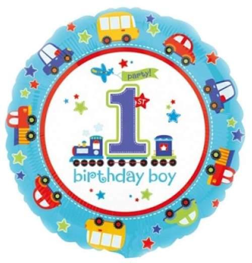 Μπαλόνι για γενέθλια 1st Birthday Boy οχήματα