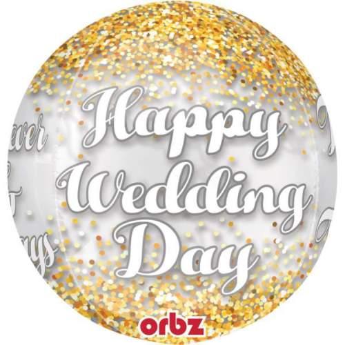 Μπαλόνι Happy wedding Day ORBZ