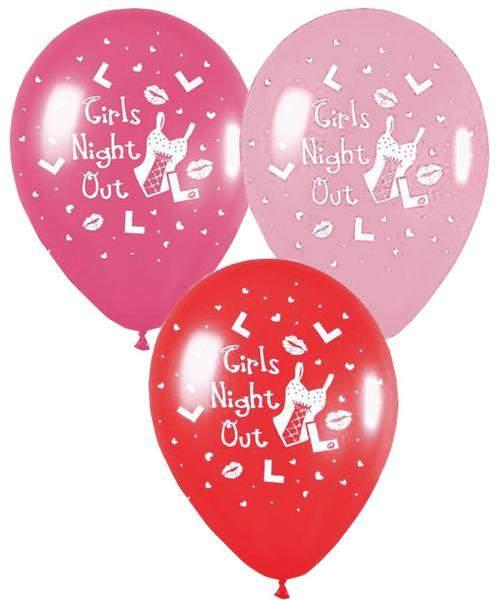 Μπαλόνι τυπωμένο 'Girls night out' σε 3 χρώματα
