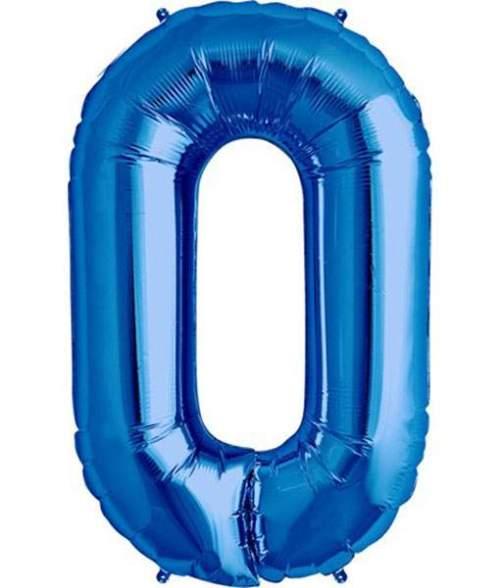 Τεράστιο Μπαλόνι 100 εκ Μπλε Αριθμός 0