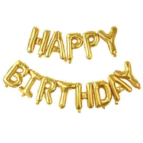 Μπαλόνι γενεθλίων ''Happy Birthday'' Χρυσό (13 τεμ)