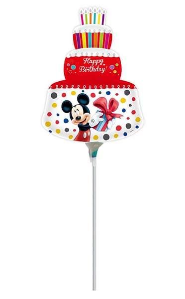 Μικρό μπαλονάκι με καλαμάκι Mickey & Minnie Κόκκινη τούρτα