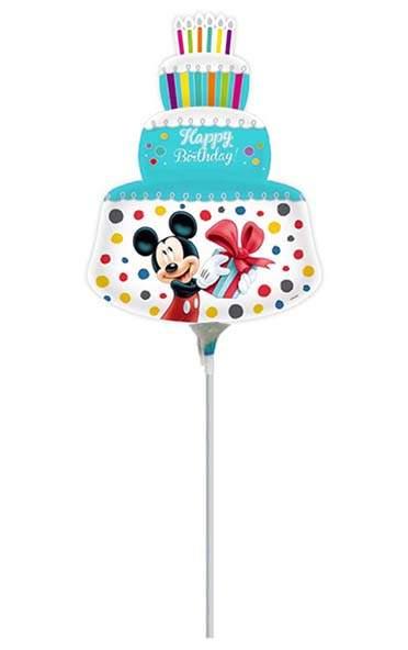 Μικρό μπαλονάκι με καλαμάκι Mickey & Minnie Γαλάζια τούρτα