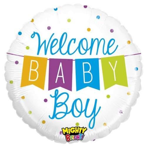 Μπαλόνι γέννησης Welcome Baby Boy μπάνερ