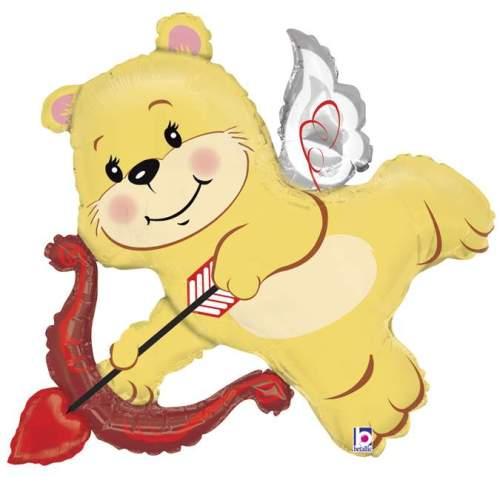 Μπαλόνι αγάπης ερωτευμένο Αρκουδάκι με τόξο