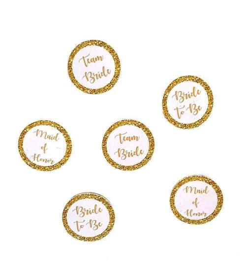 Κονκάρδες χρυσές για bachelor party σε διάφορα σχέδια