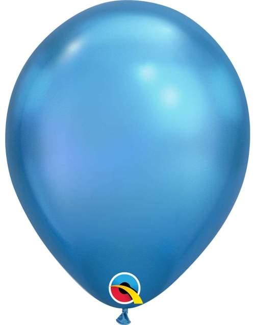 11'' Chrome Μπλε λάτεξ μπαλόνι