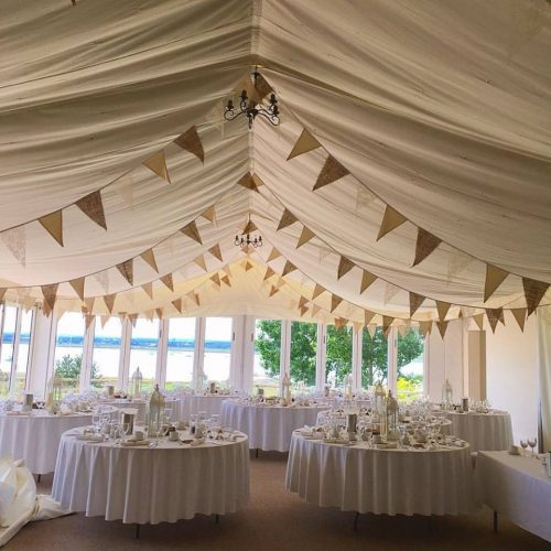 Hessian & Lace Bunting