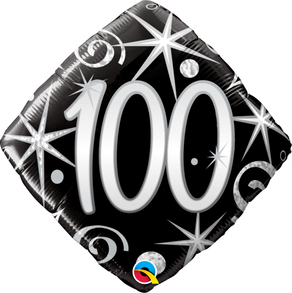 100th Birthday Balloon In a Box with FREE UK Delivery