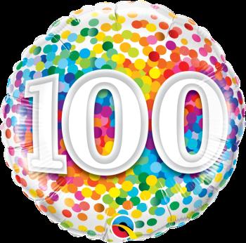 100th Birthday Balloon In A Box