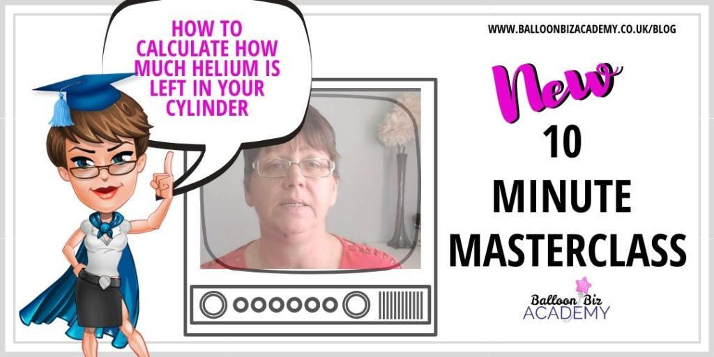 how to calculate how much helium is in you cylinder