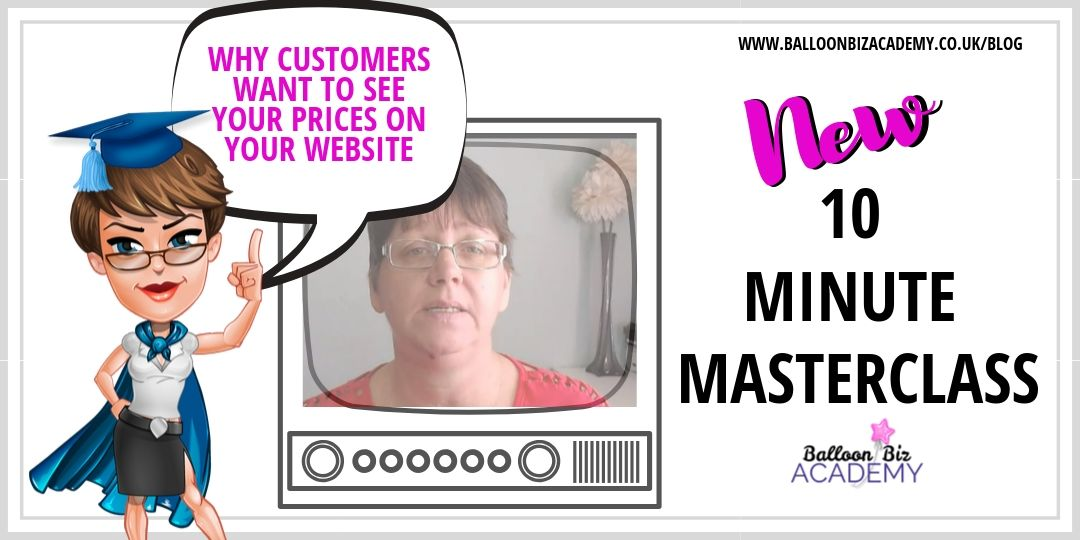 10 Minute Masterclass:  Why Customers Want to see your prices on your Website.