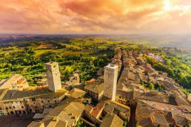 Balloon rides over San Gimignano