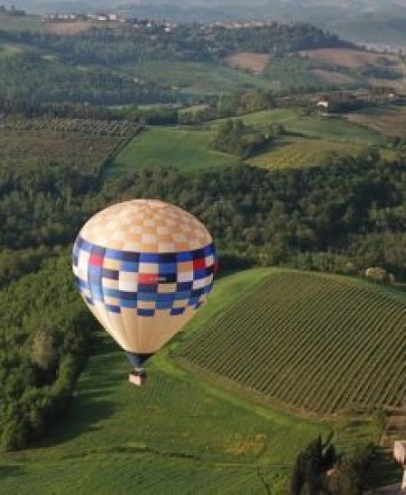 volo in mongolfiera toscana foto drone