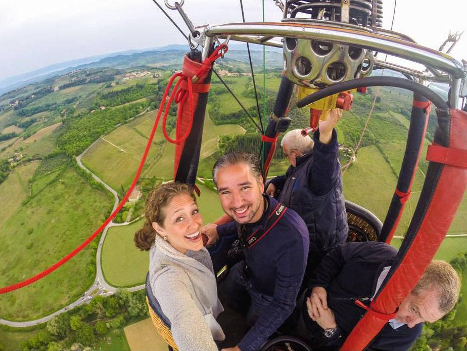 Vola con Balloon in Tuscany sul Chianti e sulla Toscana