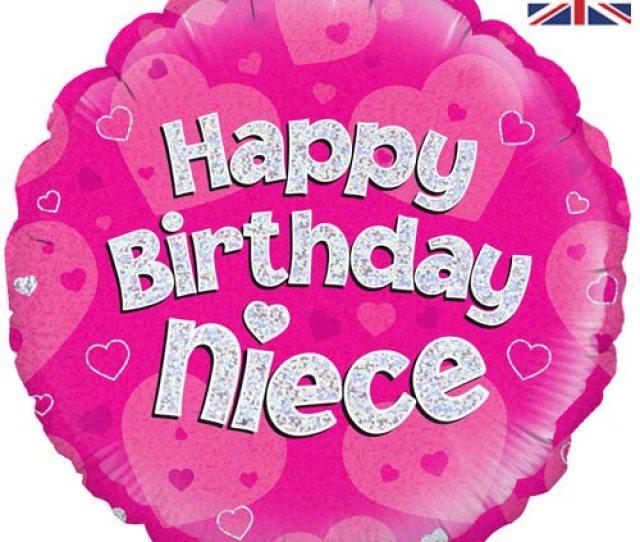 Inch Happy Birthday Niece Foil Balloon