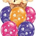 Happy Birthday Ice Cream Cone Balloon Bouquet