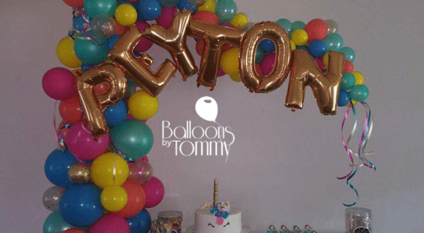 Rainbow Glitter Unicorn - Balloons by Tommy