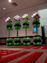 lucky dice balloon columns
