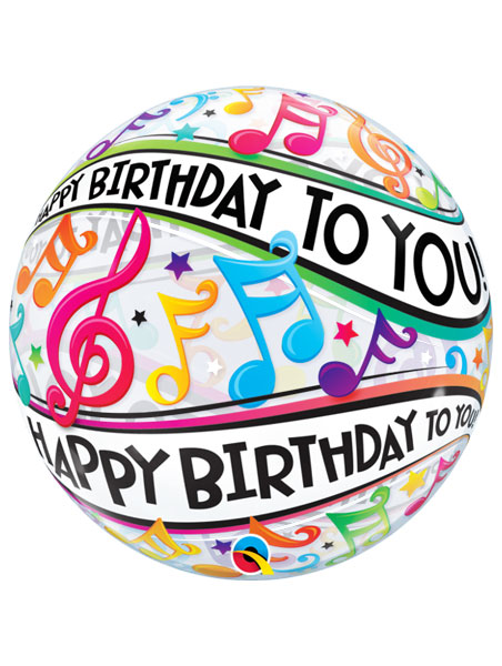 22 Happy Birthday To You Musical Notes Balloon Helium Air Q13795 Mf Balloon Supply