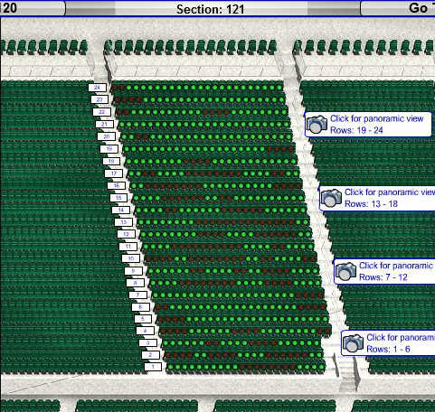 wrigley field seating chart with rows and seat numbers ...