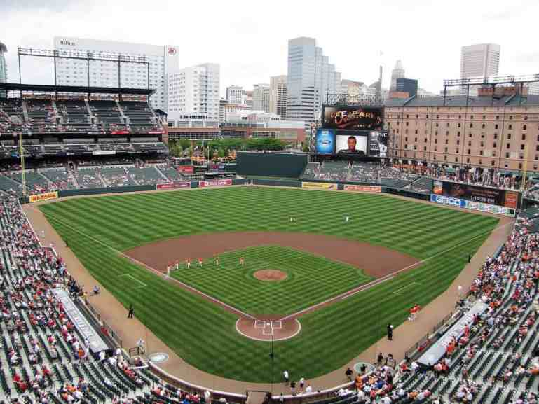 Overhead View of Oriole Park