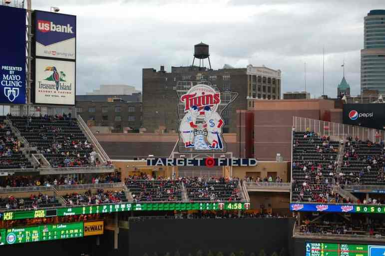 Minnie and Paul at Target Field