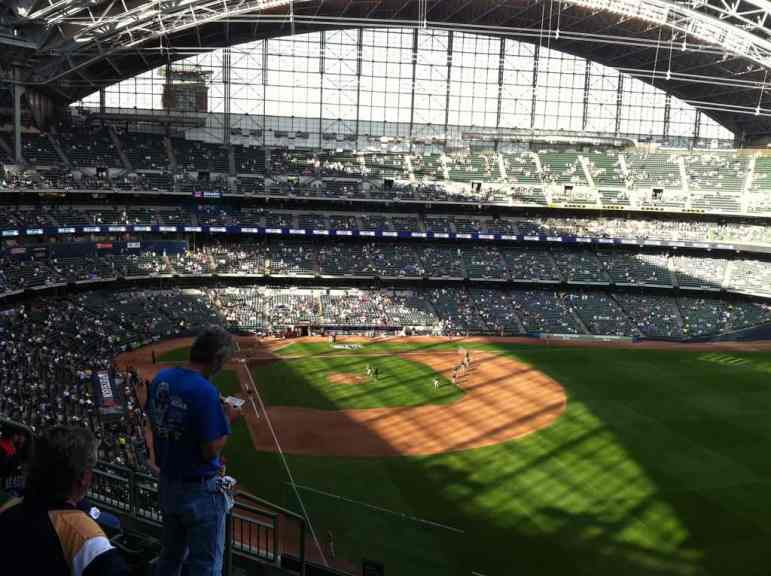 Roof Shadows at Miller Park