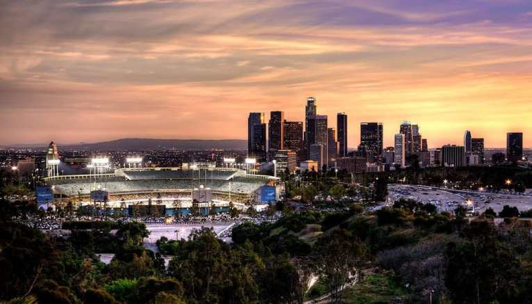 Ravine and Dodger Stadium