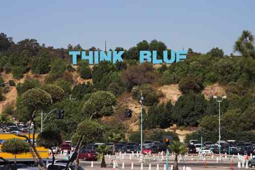 Think Blue at Dodger Stadium
