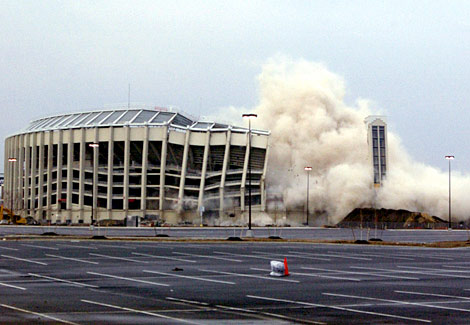 Image result for veterans stadium demolished