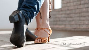 Nude Flared Heel Ballroom Dance Shoes