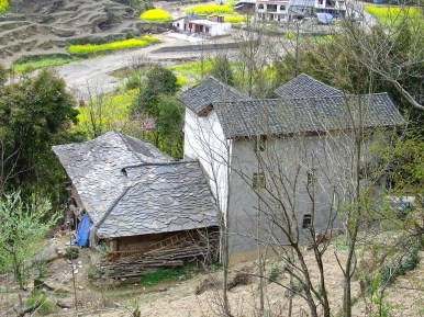 The small village on the hills I