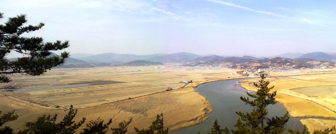 Panorama of the EcoPark in Suncheon