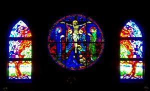 St Brigid stained glass