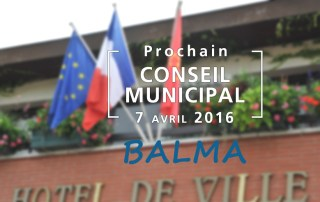 Prochain Conseil Municipal de Balma le 7 avril 2016