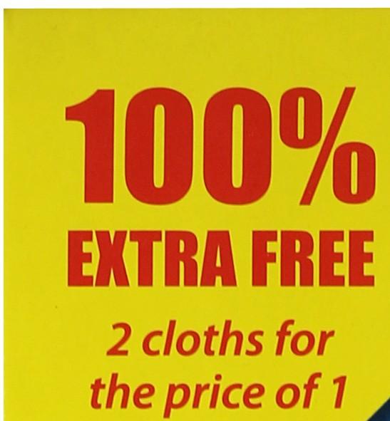 1 General Purpose Cloth + 1 FREE Wash & Wipe cloth
